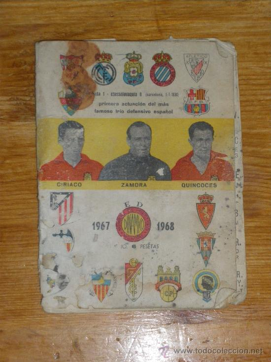 CALENDARIO DINAMICO TEMPORADA 1967 1968. (Coleccionismo Deportivo - Documentos de Deportes - Calendarios)