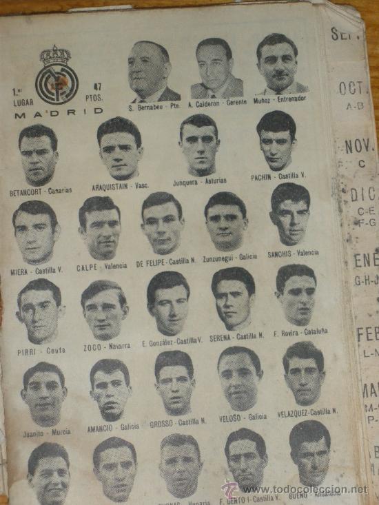 Coleccionismo deportivo: CALENDARIO DINAMICO TEMPORADA 1967 1968. - Foto 3 - 22589940