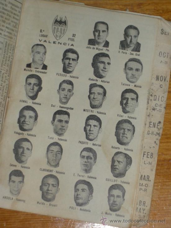 Coleccionismo deportivo: CALENDARIO DINAMICO TEMPORADA 1967 1968. - Foto 5 - 22589940