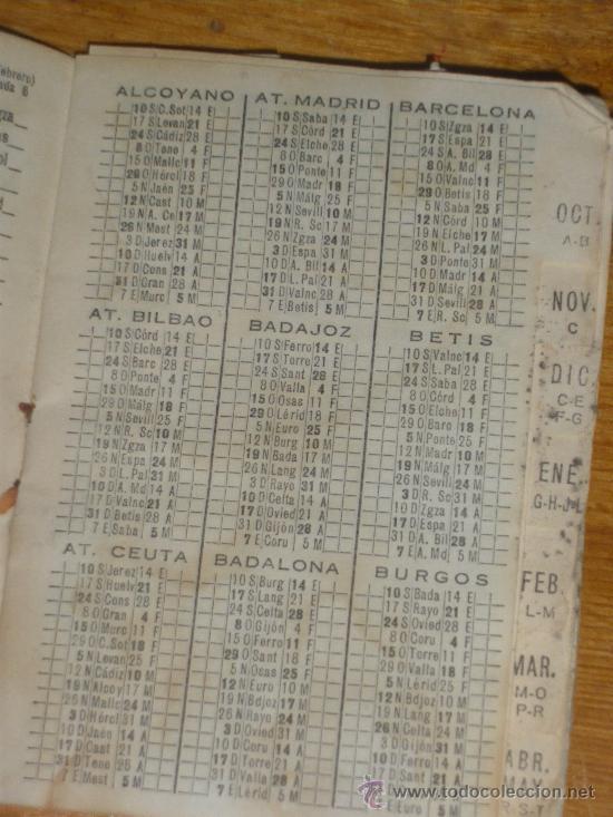 Coleccionismo deportivo: CALENDARIO DINAMICO TEMPORADA 1967 1968. - Foto 6 - 22589940