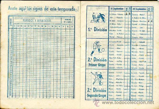 Coleccionismo deportivo: Calendario del quinielista año 1957 - 1958 - Foto 3 - 26691998