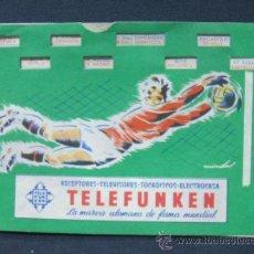 Coleccionismo deportivo: CALENDARIO DE FUTBOL ANTIGUO - TELEFUNKEN - . Lote 27540668