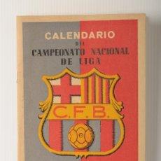 Coleccionismo deportivo: CALENDARIO DEL CAMPEONATO NACIONAL DE LIGA PRIMERA DIVISION 1953-1954, CLUB DE FUTBOL BARCELONA. Lote 25808961