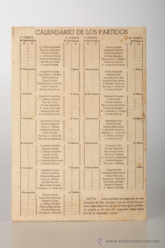Coleccionismo deportivo: Calendario estadistico del Campeonato nacional de liga primera division de fútbol. Temp. 1946-47 - Foto 3 - 26052310