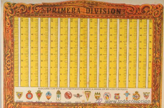 Coleccionismo deportivo: Calendario estadistico del Campeonato nacional de liga primera division de fútbol. Temp. 1946-47 - Foto 2 - 26052310