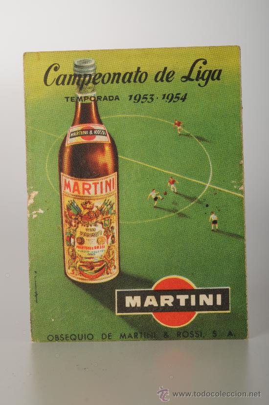 CALENDARIO DE FÚTBOL DEL CAMPEONATO DE LIGA DE LA PRIMERA DIVISIÓN, TEMP. 1953-54 (Coleccionismo Deportivo - Documentos de Deportes - Calendarios)