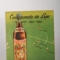 Coleccionismo deportivo: CALENDARIO DE FÚTBOL DEL CAMPEONATO DE LIGA DE LA PRIMERA DIVISIÓN, TEMP. 1953-54. Lote 26067964