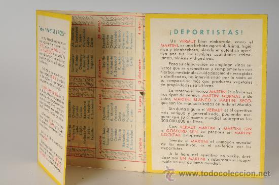 Coleccionismo deportivo: Calendario de fútbol del Campeonato de liga de la Primera División, Temp. 1953-54 - Foto 3 - 26067964