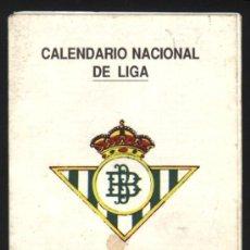 Coleccionismo deportivo: S-3273- CALENDARIO NACIONAL DE LIGA DE PRIMERA DIVISIÓN TEMPORADA 1994-95 DEL REAL BETIS. Lote 26629792