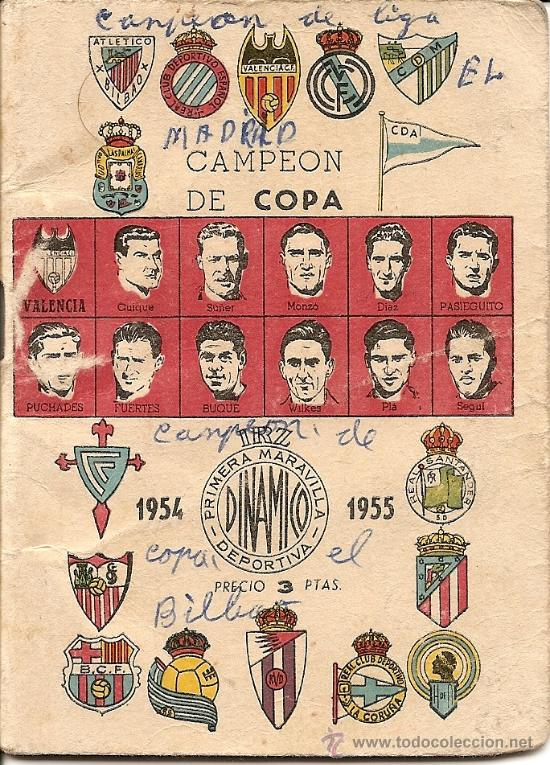CALENDARIO DINÁMICO 1954 - 1955 - ORIGINAL DE ÉPOCA (Coleccionismo Deportivo - Documentos de Deportes - Calendarios)