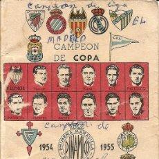 Coleccionismo deportivo: CALENDARIO DINÁMICO 1954 - 1955 - ORIGINAL DE ÉPOCA. Lote 26805812