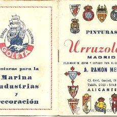 Coleccionismo deportivo: CALENDARIO PUBLICITARIO DINÁMICO LIGA 1957 - 1958? - ORIGINAL DE ÉPOCA - PINTURAS URRIZOLA MADRID. Lote 26806010