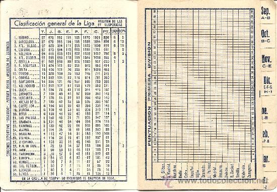 Coleccionismo deportivo: CALENDARIO PUBLICITARIO DINÁMICO LIGA 1957 - 1958? - ORIGINAL DE ÉPOCA - PINTURAS URRIZOLA MADRID - Foto 2 - 26806010