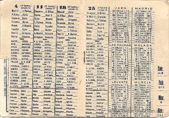 Coleccionismo deportivo: CALENDARIO PUBLICITARIO DINÁMICO LIGA 1957 - 1958? - ORIGINAL DE ÉPOCA - PINTURAS URRIZOLA MADRID - Foto 3 - 26806010