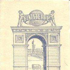 Coleccionismo deportivo: FINISTERRE CALENDARIO DE LIGA 1952 - 1953 - ORIGINAL DE ÉPOCA - TRIPTICO DE BOLSILLO. Lote 26806085