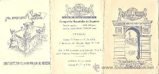 Coleccionismo deportivo: FINISTERRE CALENDARIO DE LIGA 1952 - 1953 - ORIGINAL DE ÉPOCA - TRIPTICO DE BOLSILLO - Foto 2 - 26806085
