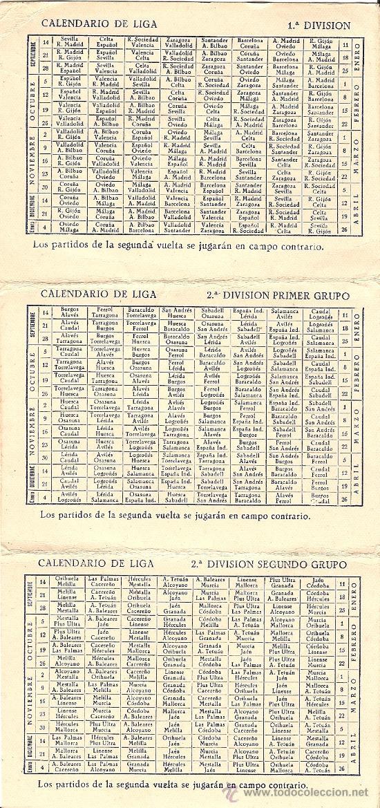 Coleccionismo deportivo: FINISTERRE CALENDARIO DE LIGA 1952 - 1953 - ORIGINAL DE ÉPOCA - TRIPTICO DE BOLSILLO - Foto 3 - 26806085
