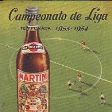 Coleccionismo deportivo: CALENDARIO CAMPEONATO LIGA 1953-1954 MARTINI. Lote 28004497