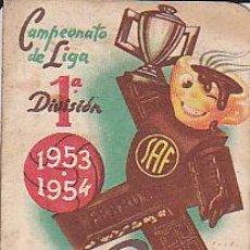 Coleccionismo deportivo: CALENDARIO CAMPEONATO LIGA 1953-1954 CHOCOLATES FERRU. Lote 28004503