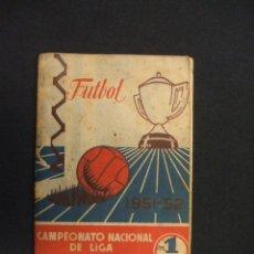 Coleccionismo deportivo: CALENDARIO LIGA - TEMPORADA 1951-52 - 1ª Y 2ª DIVISION - . Lote 28022168