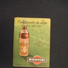 Coleccionismo deportivo: CALENDARIO LIGA - TEMPORADA 1953-54 - 1ª DIVISION - OBSEQUIO DE MARTINI & ROSSI - . Lote 28022235