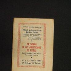 Coleccionismo deportivo: DIPUTACION PROV. BARCELONA - CALENDARIO COMPETICIONES FUTBOL - 1953-54 - 1ª, 2ª Y 3ª GRUPO TERCERO -. Lote 28022308