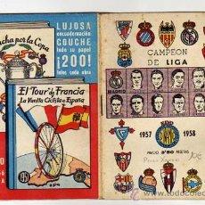 Coleccionismo deportivo: FUTBOL. CALENDARIO DE BOLSILLO DINAMICO. CAMPEONATO 1957-1958.. Lote 28049623