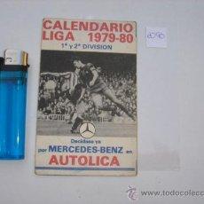 Coleccionismo deportivo: CALENDARIO DE BOLSILLO LIGA 1979-80. Lote 28286605