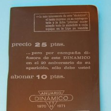 Coleccionismo deportivo: CALENDARIO DINÁMICO 1970 - 1971 . Lote 28332676