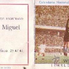Coleccionismo deportivo: CALENDARIO DE LA LIGA DE 1ª DIVISION DEL AÑO 1971/72 - PUBLICIDAD FERRETERIA NERVION - SEVILLA. Lote 28357615