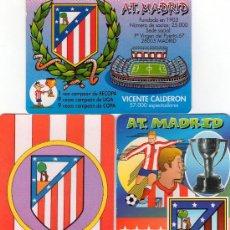 Coleccionismo deportivo: 2090-3 CALENDARIOS TEMA: ATLETICO DE MADRID. Lote 28553730
