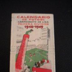 Coleccionismo deportivo: CALENDARIO DE FUTBOL, CAMPEONATO DE LIGA 1948-1949.MARTINI ROSSI.. Lote 30482299