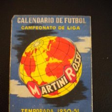 Sports collectibles - Calendario de futbol, campeonato de liga 1950-1951.Martini Rossi. - 30482483