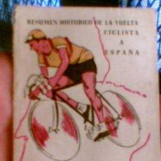 Coleccionismo deportivo: LIBRITO RESUMEN HISTORICO DE LA VUELTA CICLISTA A ESPAÑA 1935 - 1962 PUBLICIDAD CIGARRILLOS RUMBO. Lote 31795253