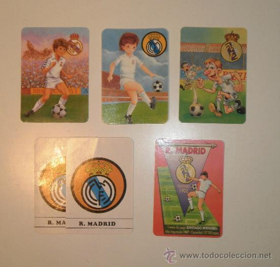 CALENDARIOS REAL MADRID. 5 DIFERENTES (Coleccionismo Deportivo - Documentos de Deportes - Calendarios)
