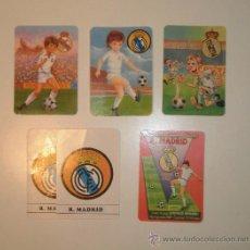 Coleccionismo deportivo: CALENDARIOS REAL MADRID. 5 DIFERENTES. Lote 30671522