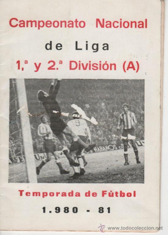 CALENDARIO DE LIGA AÑO 1980. 1ª Y 2ª DIVISIÓN CON PUBLICIDAD DE EMPRESAS DE MÁLAGA. 20 PÁGINAS. (Coleccionismo Deportivo - Documentos de Deportes - Calendarios)