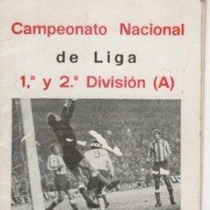 Coleccionismo deportivo: CALENDARIO DE LIGA AÑO 1980. 1ª Y 2ª DIVISIÓN CON PUBLICIDAD DE EMPRESAS DE MÁLAGA. 20 PÁGINAS.. Lote 31084007