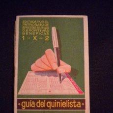 Coleccionismo deportivo: GUIA DEL QUINIELISTA 1950.. Lote 31065033