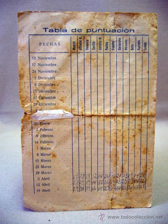 Coleccionismo deportivo: CALENDARIO, CAMPEONATO DE LIGA 1º DIVISION, 1935-1936, ALICANTE, MARIMON - Foto 2 - 31767241