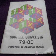 Coleccionismo deportivo: GUIA DEL QUINIELISTA 79-80. PATRONATO DE APUESTAS MUTUAS.. Lote 32161288