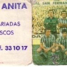 CALENDARIO LIGA NACIONAL 1981/82 PRIMERA DIVISION