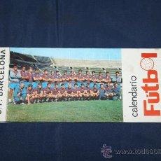 Coleccionismo deportivo: C.F. BARCELONA - CALENDARIO DE FUTBOL DE 1969 - COMPLETO, CON FOTOGRAFÍAS DE LOS JUGADORES. Lote 32302378