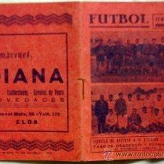 Coleccionismo deportivo: ELDENSE (ELDA - ALICANTE) - CALENDARIO DE ASCENSO A 2ª DIVISIÓN GRUPO III TEMPORADA 1955 - 1956. Lote 32557509