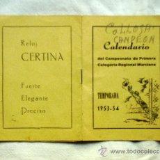 Coleccionismo deportivo: CAMPEONATO DE PRIMERA CATEGORÍA REGIONAL MURCIANA TEMPORADA 1953-54 U. D. ELDENSE - PUBLICIDAD ELD. Lote 32560698