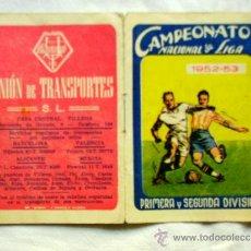 Coleccionismo deportivo: CAMPEONATO NACIONAL DE LIGA 1ª Y 2ª DIVISIÓN 1952-53 - PUBLICIDAD UNIÓN TRANSPORTES VILLENA (ALICANT. Lote 32560779