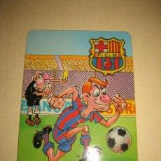 Coleccionismo deportivo: CALENDARIO DE BOLSILLO FUTBOL CLUB BARCELONA 2000 PUBLICIDAD CAFETERIA MAGANI TORREVIEJA . Lote 33264307