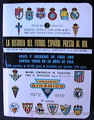CALENDARIO DE FUTBOL DINAMICO, TEMPORADA 1972-1973, UN LIBRITO, (Coleccionismo Deportivo - Documentos de Deportes - Calendarios)