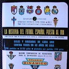 Coleccionismo deportivo: CALENDARIO DE FUTBOL DINAMICO, TEMPORADA 1972-1973, UN LIBRITO, . Lote 33333195