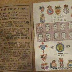 Coleccionismo deportivo: ANUARIO DINÁMICO CAMPEÓN DE LIGA 1957-1958. Lote 33618945